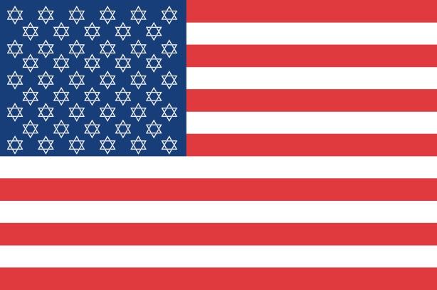 Israeli USA Flag