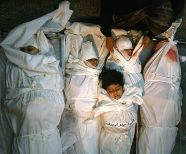 Victims of attacks by Israel in Gaza